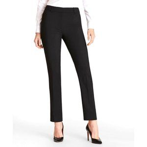 BROOKS BROTHERS Lizzy Black Cotton Slim Trousers